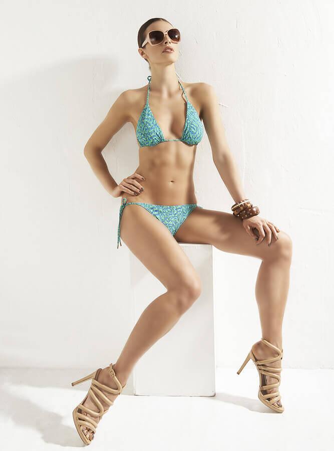 Bikinifling green print 2 piece