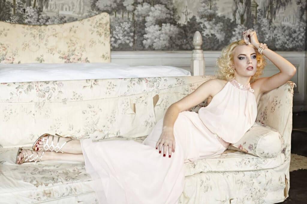 Silk dress by Vera Mont