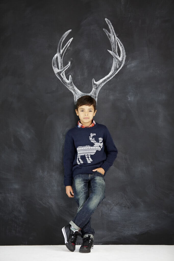Reindeer jumper, from £18, M and Co