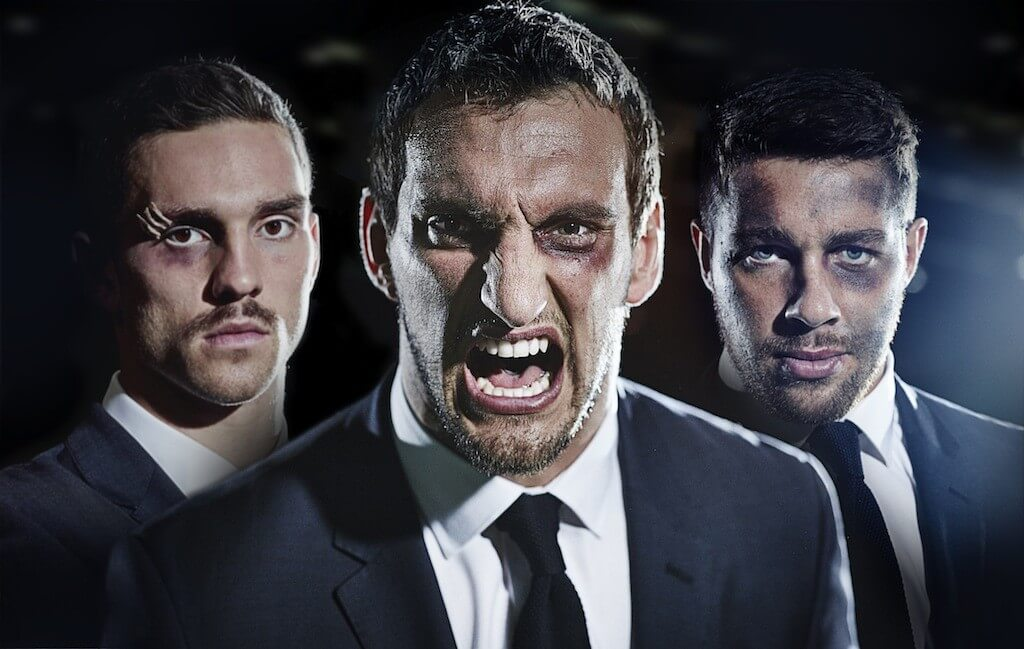 Welsh Team Players - Sam Warburton, Rhys Webb and George North