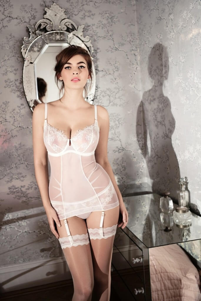 Bridal balcony bra, £90. brief, £50 and slip, £130