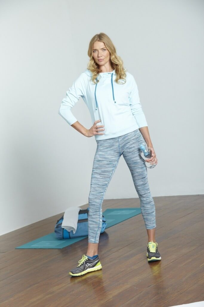 Softdri lounge hoodie, £55. Feathertech space dye leggings, £40