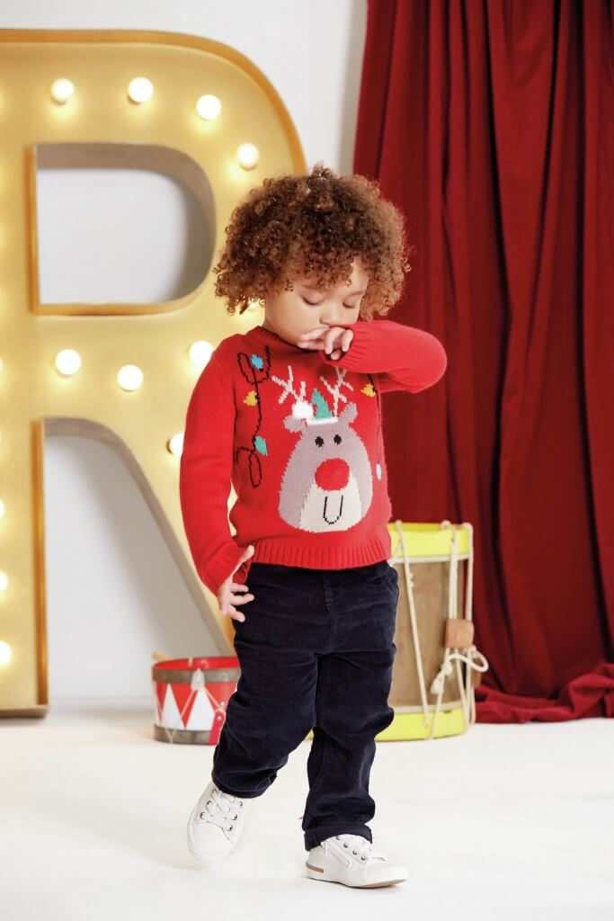 Red Reindeer Jumper, £14, 3M-3Y, M&Co