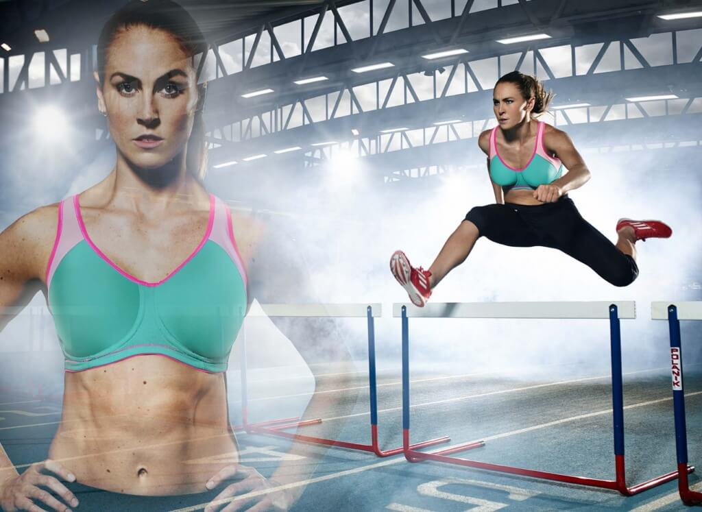 """Moulded Sports Bra, from £38, sizes 28"""" - 40"""", cup sizes B-H and Capri Pants, from £43, sizes XS-XL all by Freya Active"""