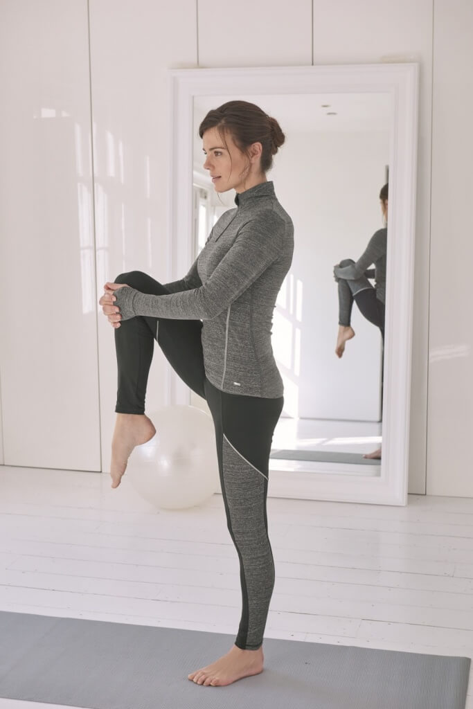 Long Sleeve Running Top, £49 and Full Length Seamed Leggings, £45, both sizes 8-16 by The White Company.