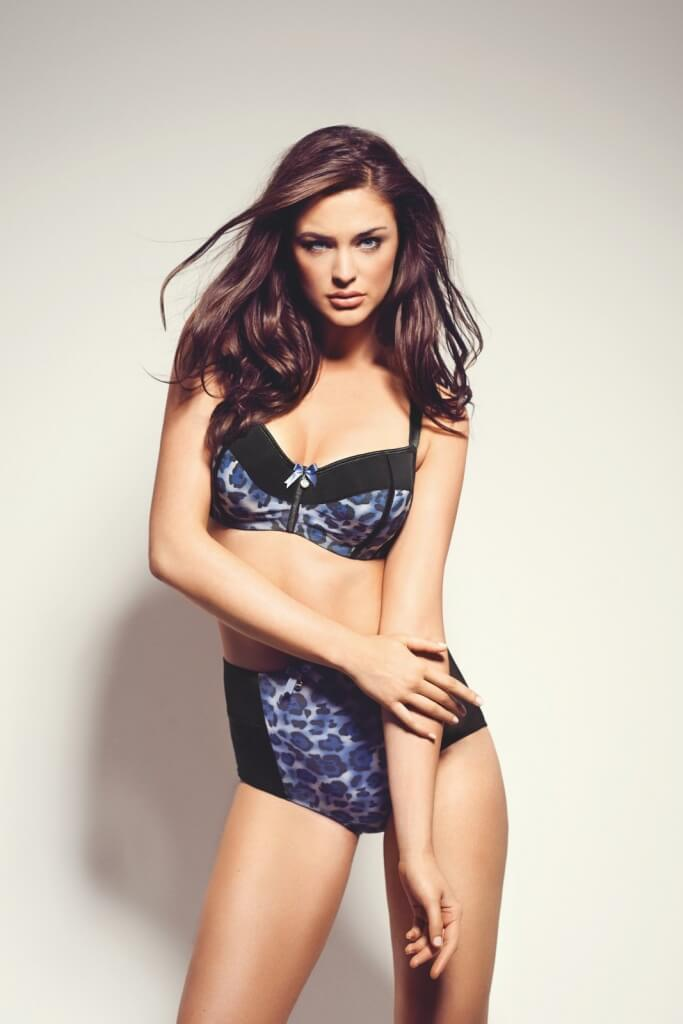 Leopard print bra, £30, 28D to 40K and highwaisted briefs, £15, S-XL, Parfait by Affinities Intimates.