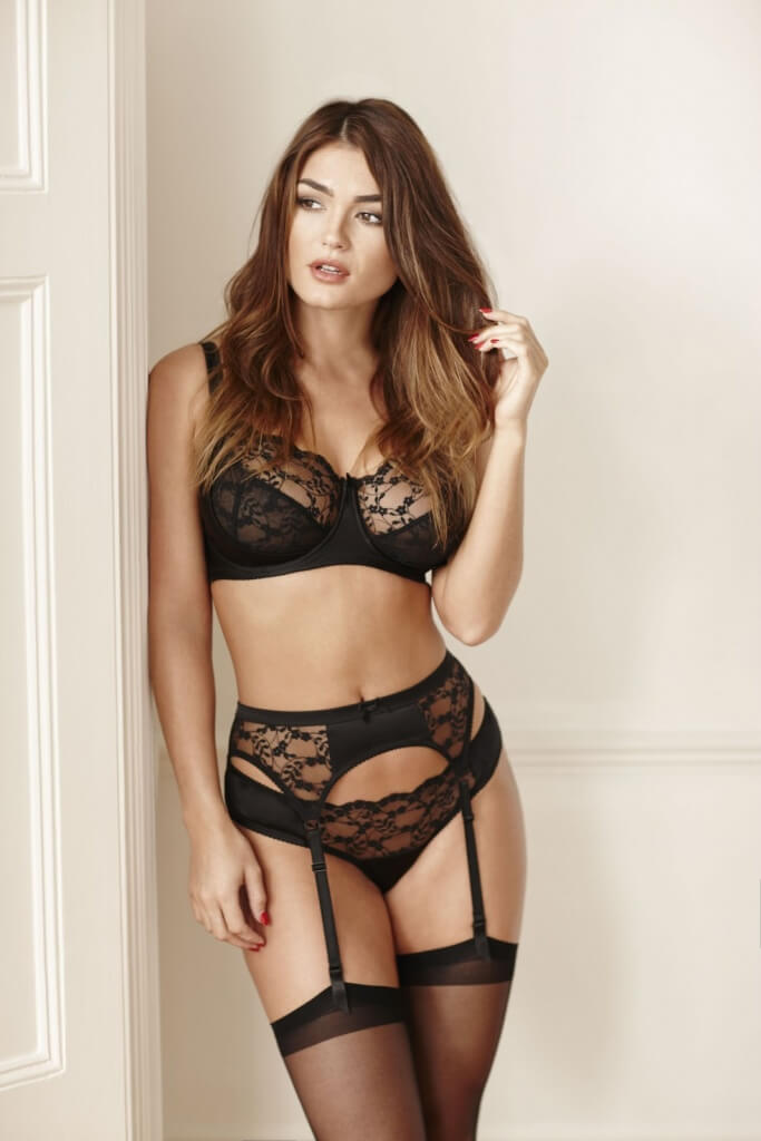 5649ecf4bbed Black lace and silk bra, £117, 26D-36HH matching knickers, £