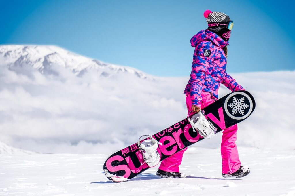SUPERDRY SNOW WOMENS - SKI COMMAND UTILITY HOODED JACKET, SNOW WIND BOMBER PANT, STRIPE BEANIE, SNOW GOGGLES