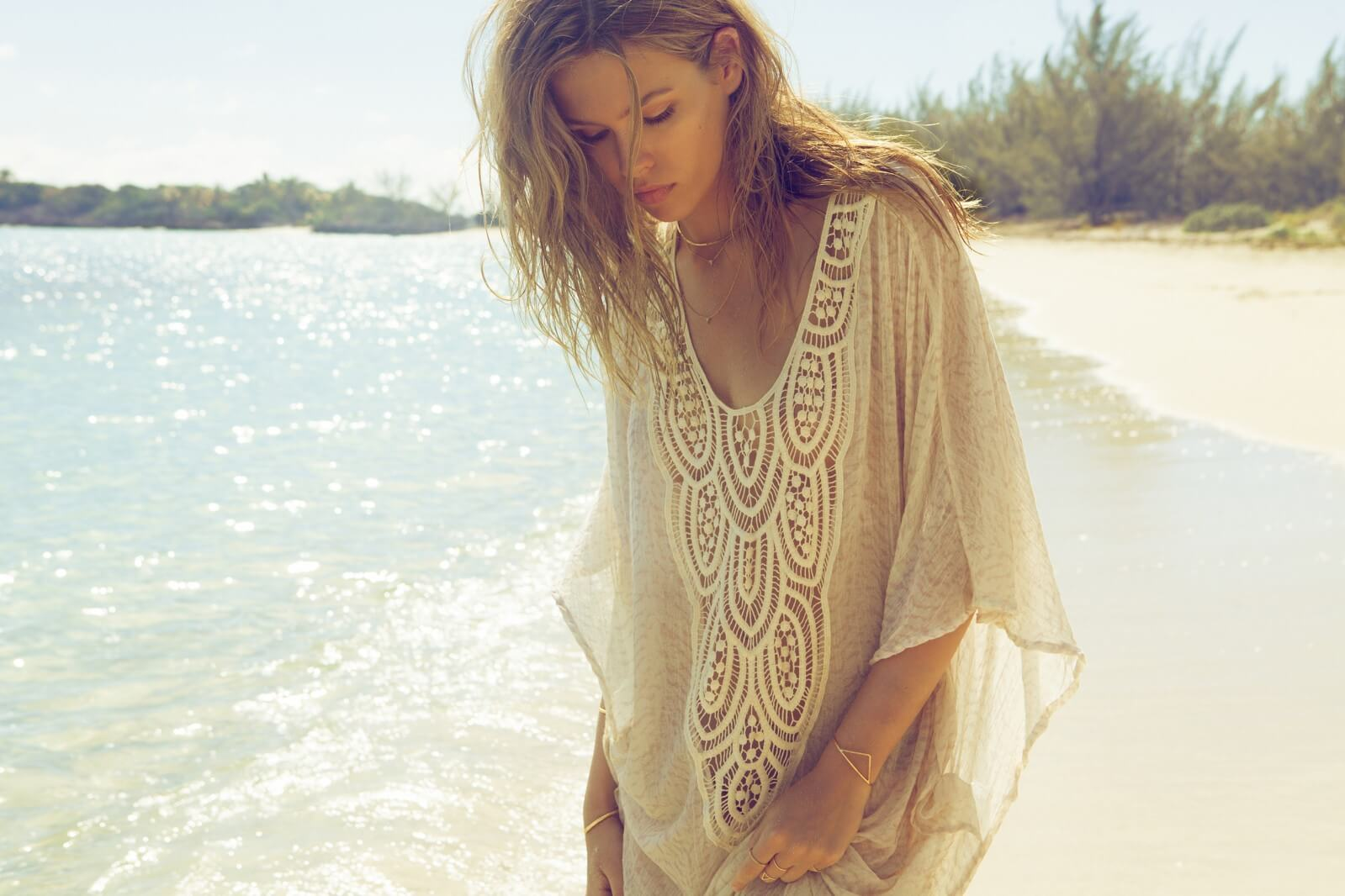 Embroidered kaftan, £125.40 (in sale) Eberjey at www.beachcafe.com
