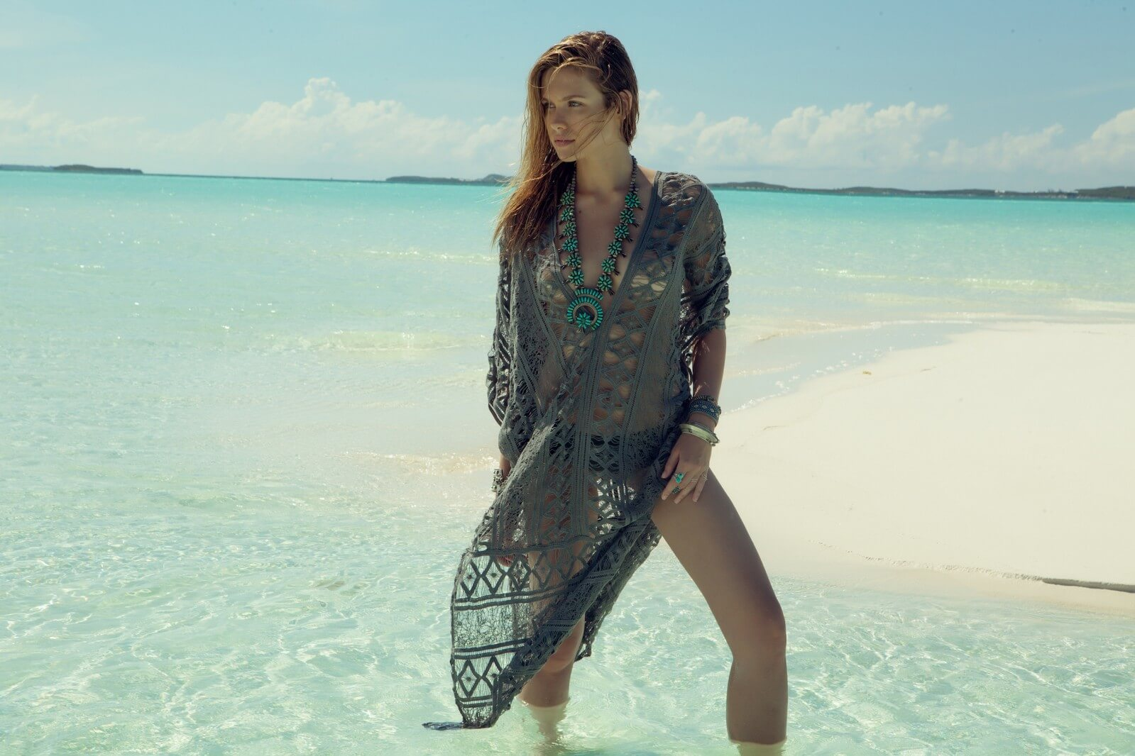 Lacey Kaftan, £231, by Lejerbey at www.beachflamingo.com